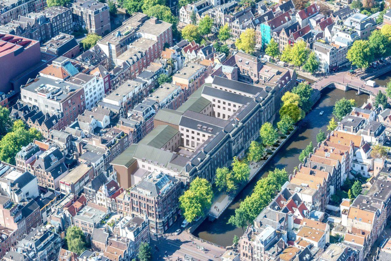 rosewood hotel luchtfoto overzicht
